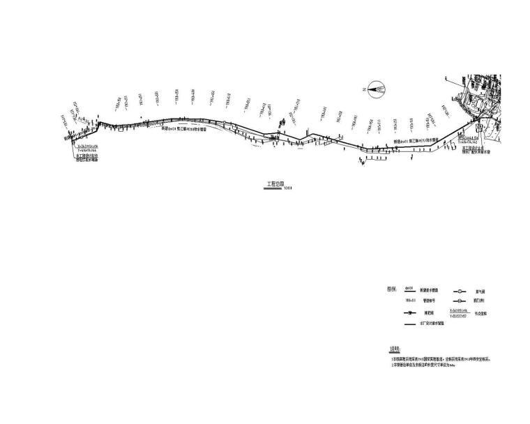 [湖北]6万吨水厂扩建工程原水管道系统施工图
