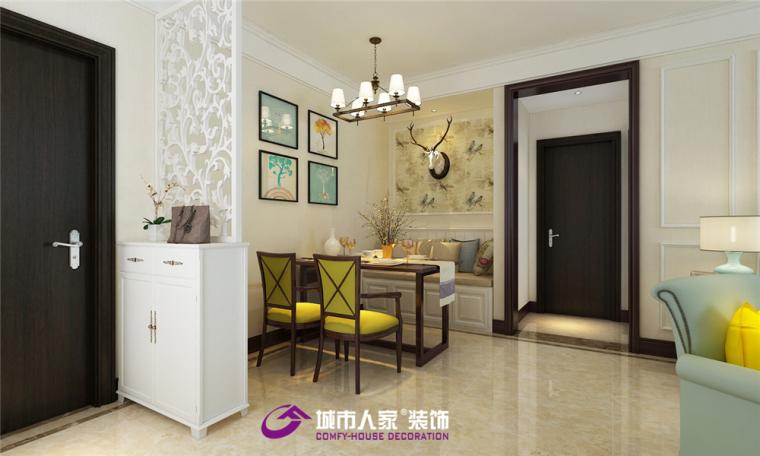 中建锦绣兰庭装修案例,现代美式风格效果图