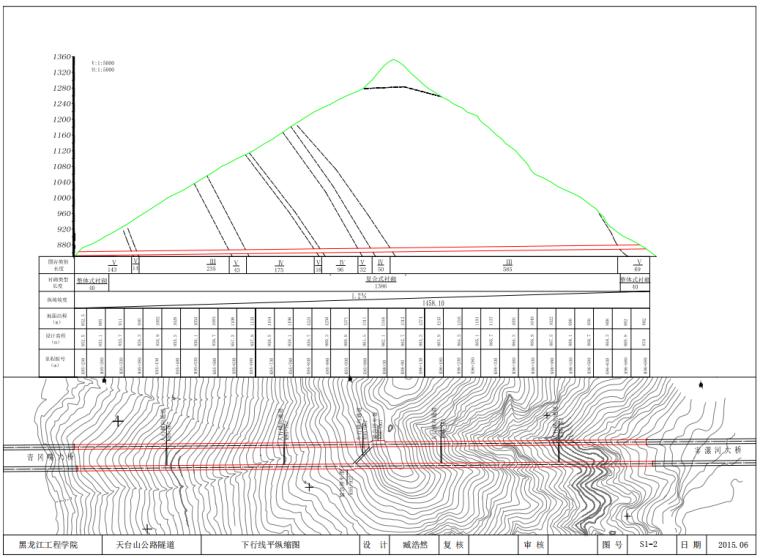 [毕业设计图纸]天台山公路隧道设计_2