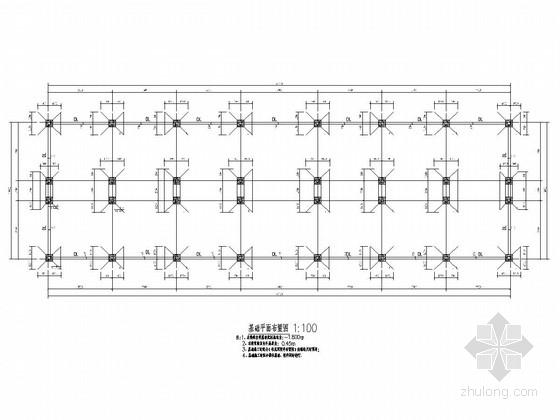 [河南]地上三层钢框架结构车间厂房结构施工图(含建施)
