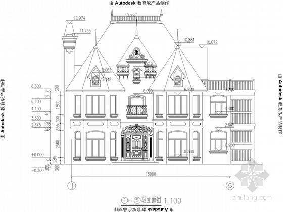 两层木结构别墅施工图(含建施)