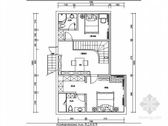 [厦门]奢华小资复式家装室内施工图