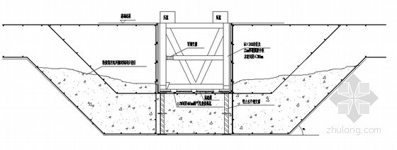 基础底板底坑内模支设示意图
