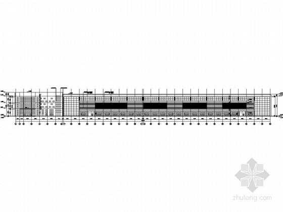 双层(局部多层钢框架)吊车门式重型钢结构厂房建筑结构全套图
