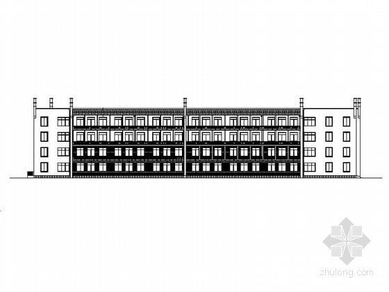[安徽]4层回字形小学教学楼建筑施工图(2014年图纸)