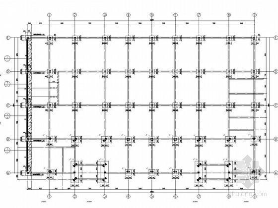 五层框架结构轻钢屋盖健身体育综合馆结构施工图
