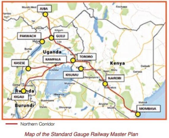 肯尼亚与乌干达就东非铁路网北部走廊建设达成一致