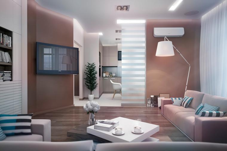 又酷又简洁的现代客厅_11