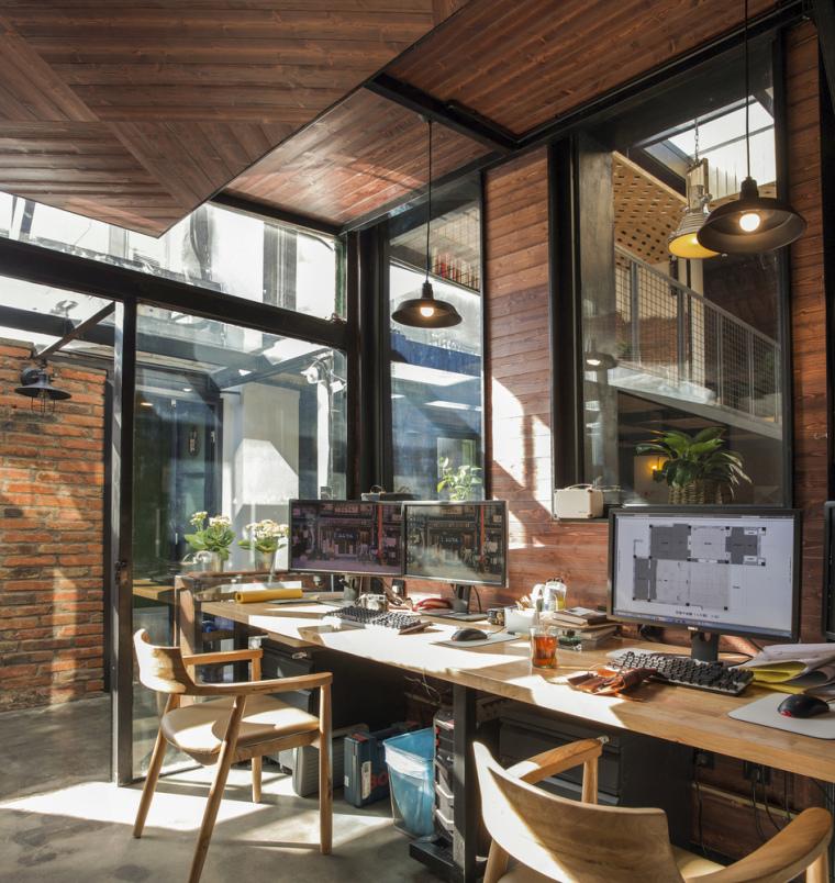 北京北海百年糖房改造-115-办公空间工作区