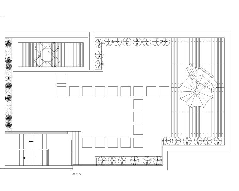 21套屋顶花园CAD施工图(4)