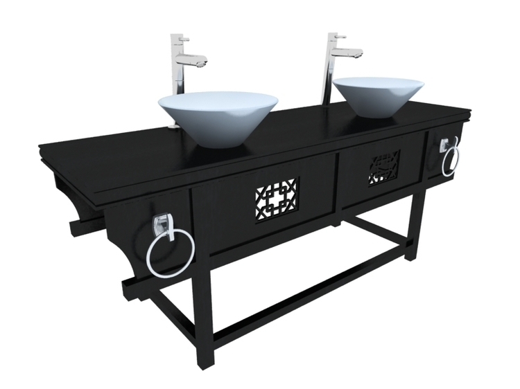 中式洗手台3D模型下载
