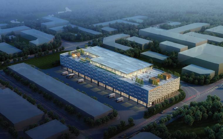 [深圳]五层长条形现代风格物流仓储楼建筑设计方案文本