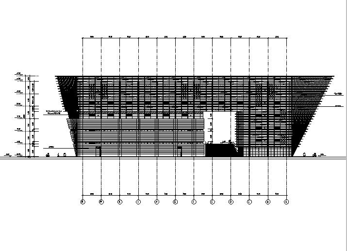 [江苏]六层梯形造型框架结构图书馆建筑施工图(含全专业图纸)