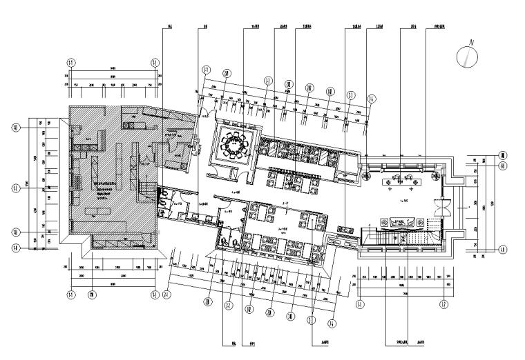 无锡市雅韵阁饭店室内施工图设计+效果图