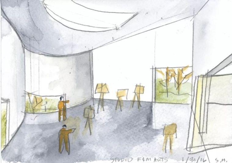 斯蒂文·霍尔在中国的首个作品展,向我们摊开了他个人的手绘本_7