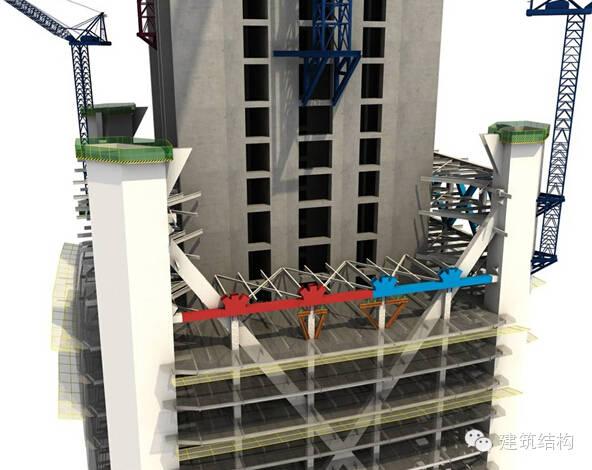 建筑结构丨超高层建筑钢结构施工流程三维效果图_2