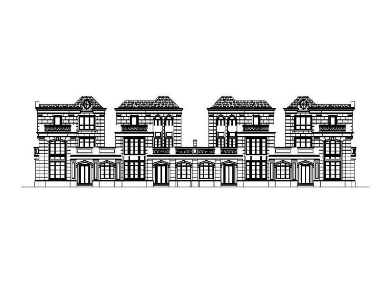 欧陆风别墅居住区建筑施工图
