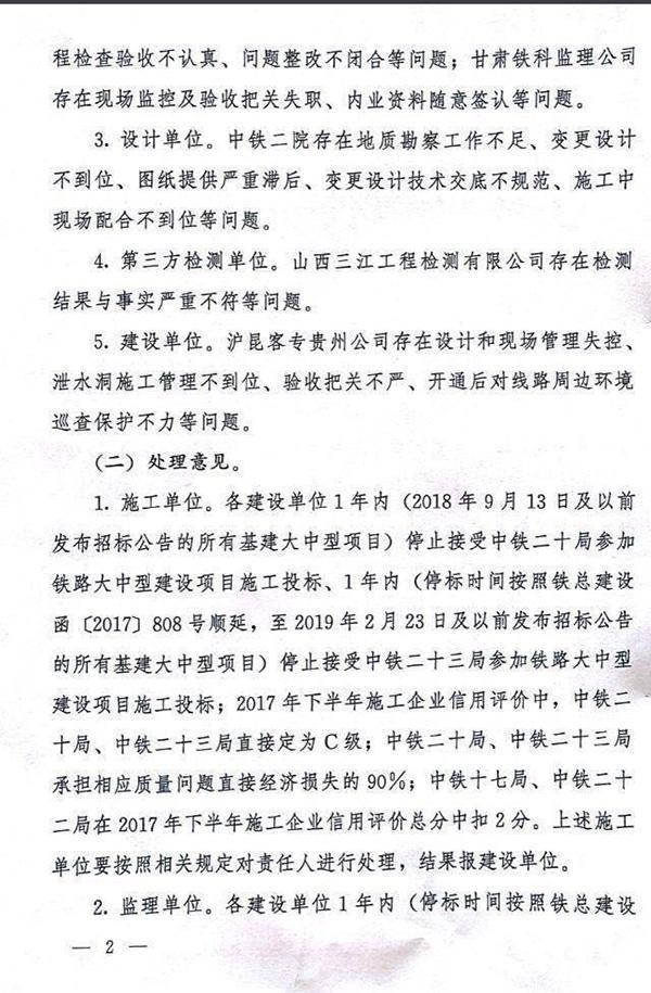 铁总:沪昆高铁贵州段个别隧道存在偷工减料等严重质量问题_4