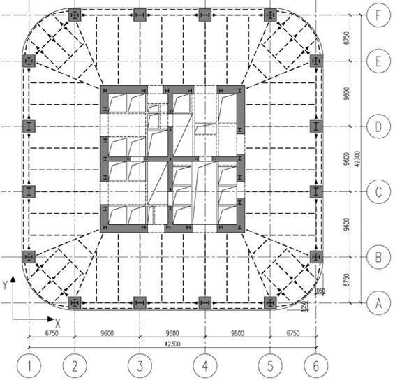 乌鲁木齐绿地中心黏滞阻尼器悬臂减震结构设计_2