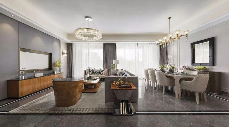 240㎡珍稀优雅豪宅软装设计,创造引领新都市的优质生活空间!_2