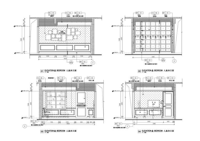 欧式风格古臣别墅设计施工图(附效果图+材料表)
