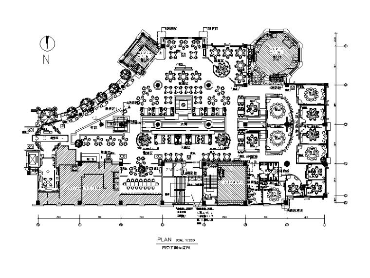 [北京]整套高端餐厅设计CAD施工图(含效果图)