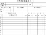 工程项目管理表单(直接套用)