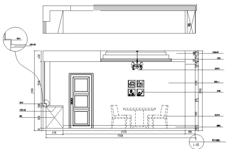 美式风格中南世纪城住宅设计施工图(附效果图)