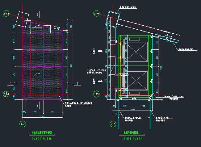 观光电梯建筑及钢结构施工图_4