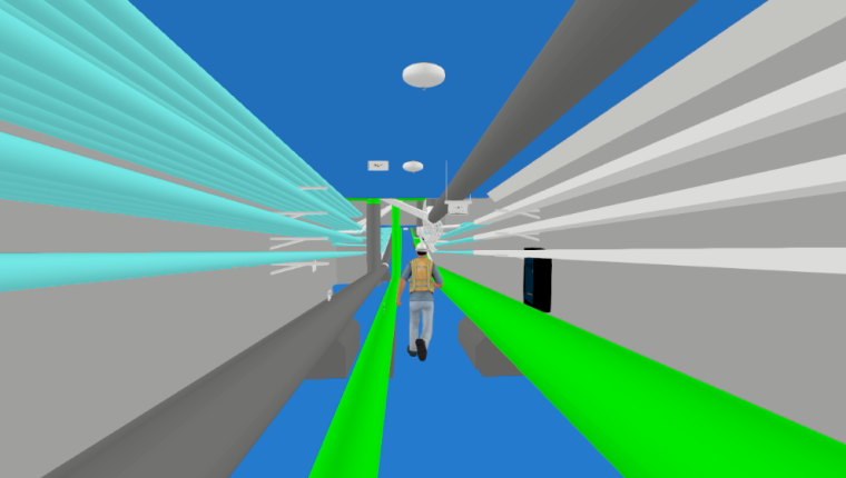 最近用杰图做的管廊导入revit后做的漫游效果 给各位分享一下