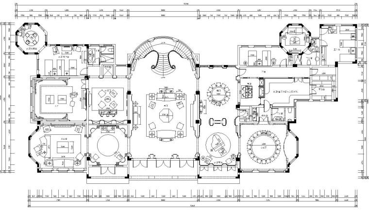 [重庆]某大型私人会所内部装修施工图设计及效果图