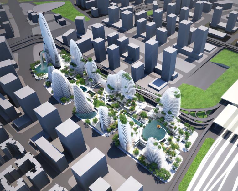 [江苏]MAD马岩松-山水城市商业综合体建筑设计方案文本(二)