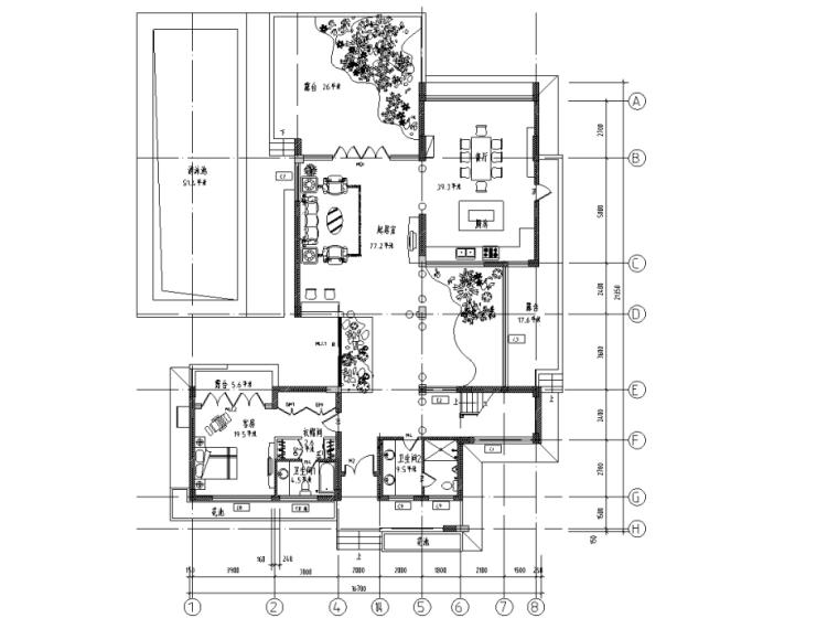 [上海]某三层别墅装修设计施工图(含效果图)
