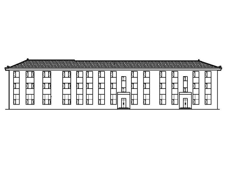 [宁夏]五层砖瓦屋面综合办公楼建筑施工图