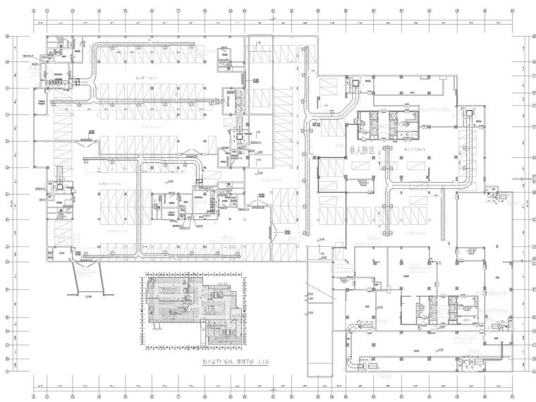 [江苏]高层综合体空调通风防排烟系统设计施工图(人防设计)