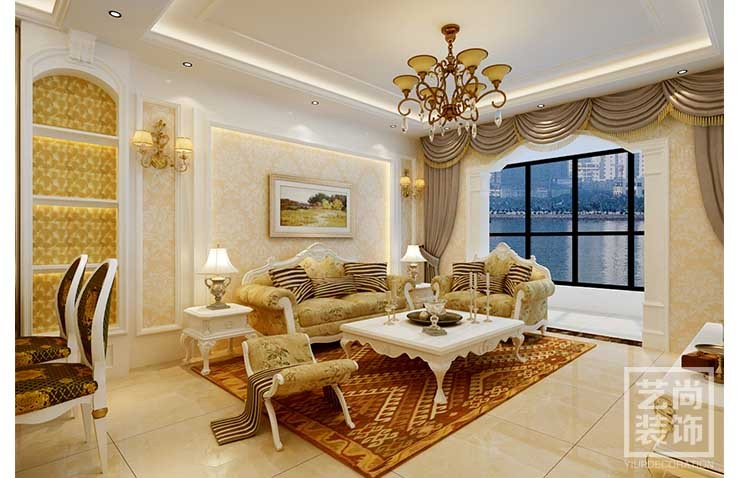 两室两厅一卫简欧风格装修
