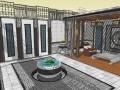 新中式庭院设计SU模型