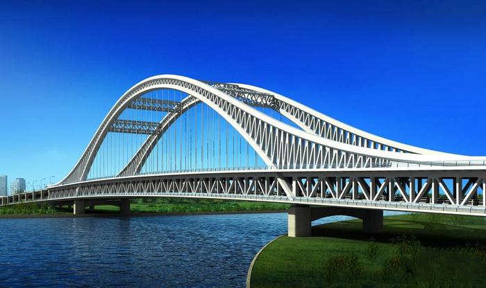 地标性桥梁设计赏析--特大型下承式双层系杆拱桥!