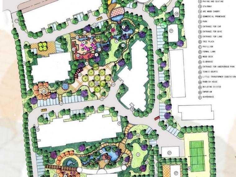 [上海]上海复地雅园全套景观景观概念设计文本(PDF+33页)