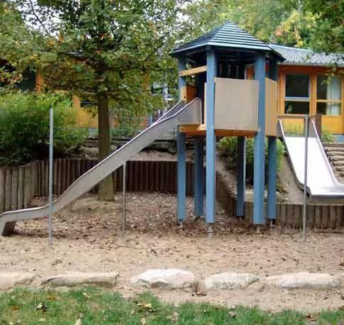 德国设计师怎么造园的?——儿童活动场地之滑梯