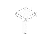 混凝土-圆形-带有柱冠的柱