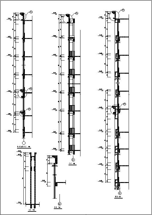 现代高层宾馆酒店建筑设计施工图CAD-现代高层建筑设计结构图