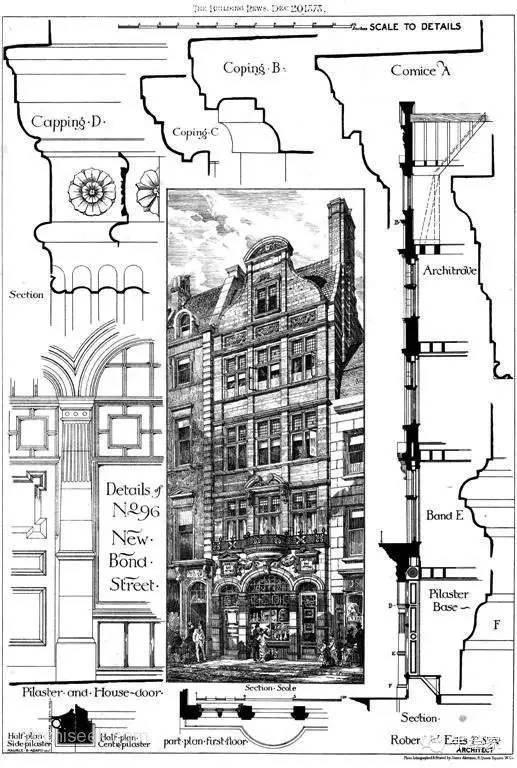 百年经典建筑设计手绘图_12