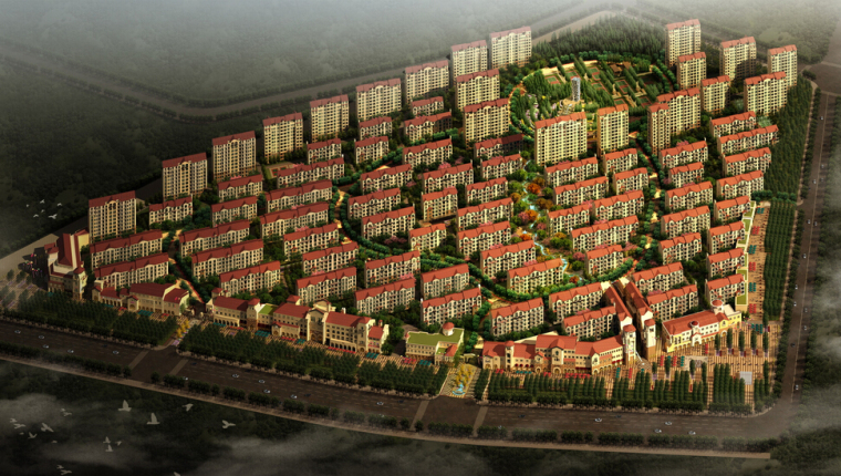 [辽宁]大连田园风光居住区景观方案设计