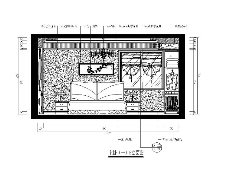 欧式风格别墅设计CAD施工图(含效果图)立面图