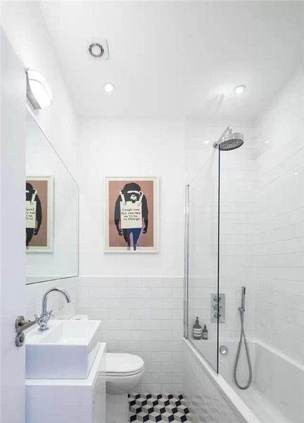 简单却美丽,几招教你搞定小户型洗手间装修~
