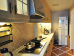 平纯正地中海时尚大方2室2厅室内设计实景图(15张)