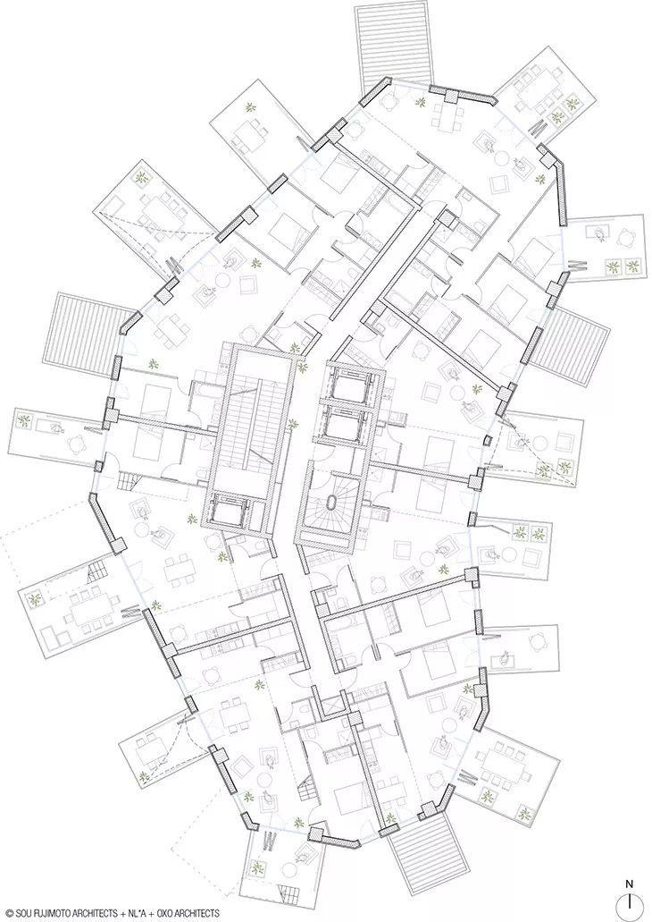 """藤本壮介设计的像树一样的公寓楼建成了,每户都有""""空中花园""""_25"""