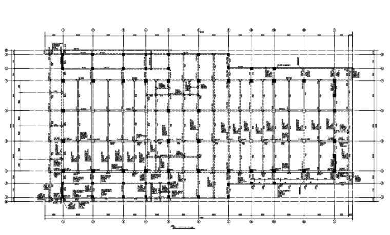 2层框架剪力墙结构报告厅结构施工图(CAD、22张)