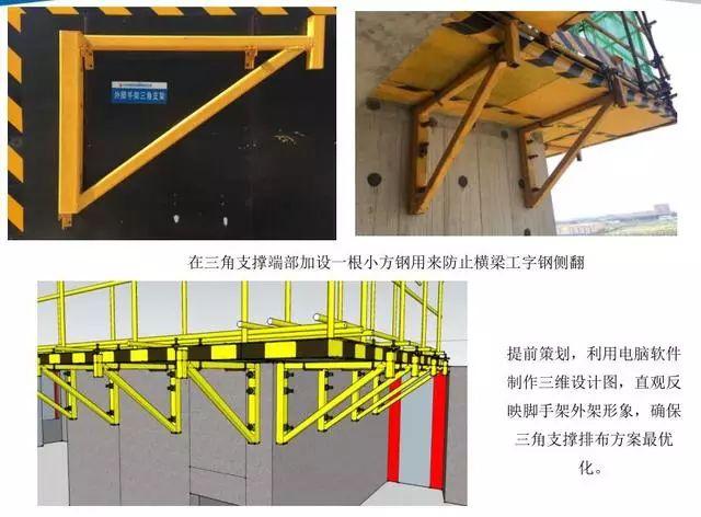 悬挑脚手架搭设施工工艺标准,样板审核制实施案例!_15